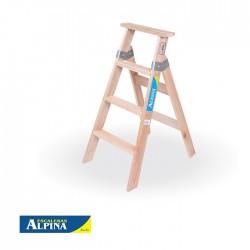 Escalera Familiar 4 Peldaños estándar Madera ALPINA