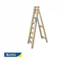 Escalera Familiar 8 Peldaños Estándar Madera ALPINA