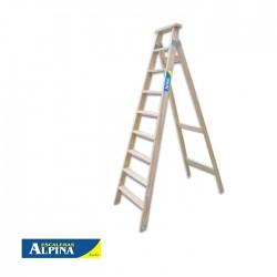 Escalera Familiar 9 Peldaños Estándar Madera ALPINA