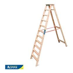 Escalera Familiar 11 Peldaños Estándar Madera ALPINA