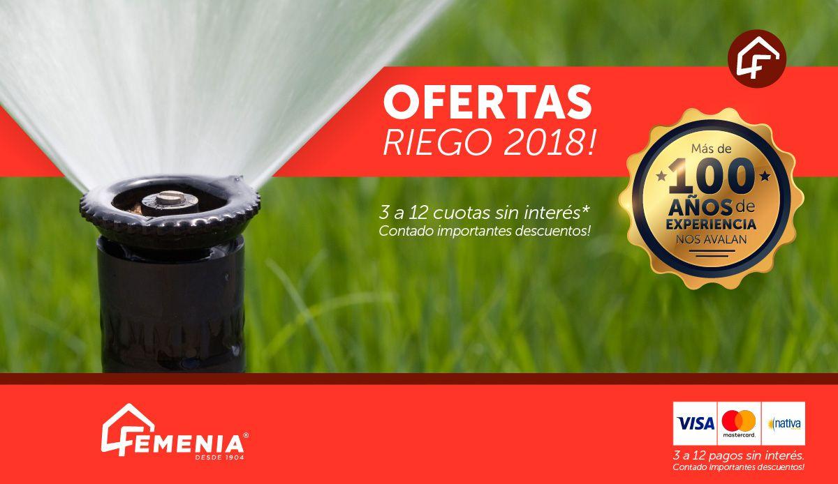 Ofertas de Riego 2018